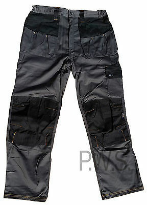 Hymac Mens Cargo Combat Trousers Work Wear Pants Knee Pad Pockets (HYM717)