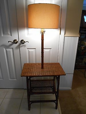 Vintage Mid Century Signed Georgian Torchiere Floor Lamp W