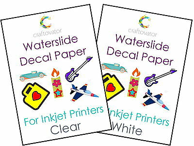 Water Slide Decal Paper Waterslide INKJET A4 Transfer Sheets - ALL PACK SIZES