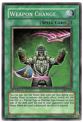 Weapon Change AST-041 Carte Yu-Gi-Oh! 1st FIRST EDITION ENGLISH CARD