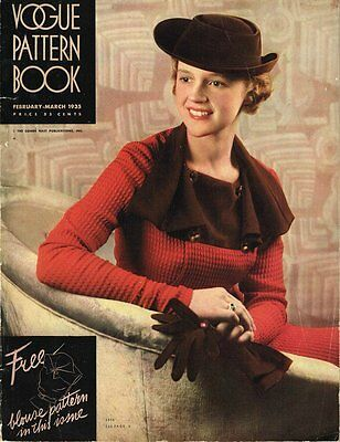 1930s Vogue Pattern Book Bi-Monthly Pattern Catalog FEB MARCH 1935 57 Pages RARE