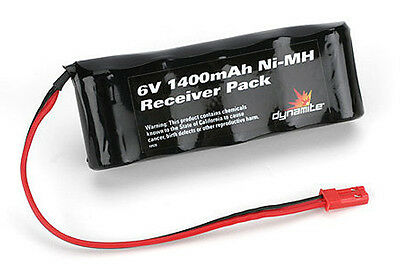 Dynamite DYN1448 6V 1400mAh Ni-MH Receiver Flat Battery Pack w/ JST Connector