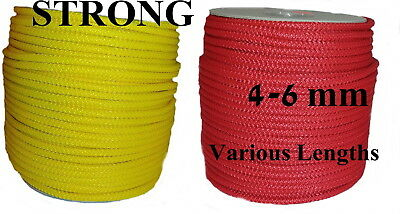 Sailing Boat Camp Yacht Pulley Washing Clothes Line Poly Rope Strong Yellow Red