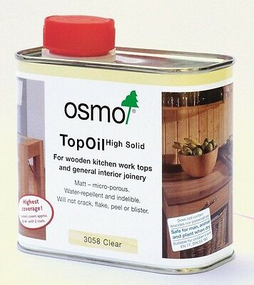 Osmo Kitchen Work Top Oil - 3058, 3028,3068 or 3061 -  0.5ltr tin