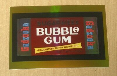 2014 Topps Wacky Packages CHROME GOLD refractor GADZOOKA bubble gum 10/25