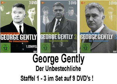 9 DVDs * GEORGE GENTLY - STAFFEL / SEASON 1 + 2 + 3 IM SET # NEU OVP &