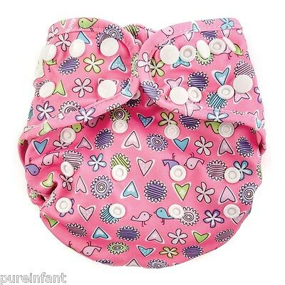 NEW DESIGN Bumkins Snap One-Size Cloth Diaper Cover - Love Birds