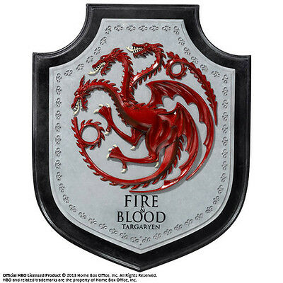 Game Of Thrones Targa Wall Plaque Crest Trono Di Spade House Daenerys Targaryen