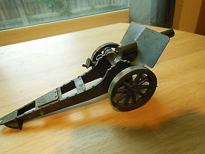 """Vintage War Cannon Military 8 3/4 inch long by 3 1/4"""" tall  made in USA"""