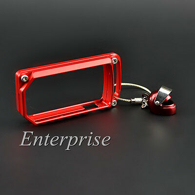 Red CNC Key Remote Cover Case Chain For DUCATI DIAVEL MULTISTRADA MTS 1200 AMG