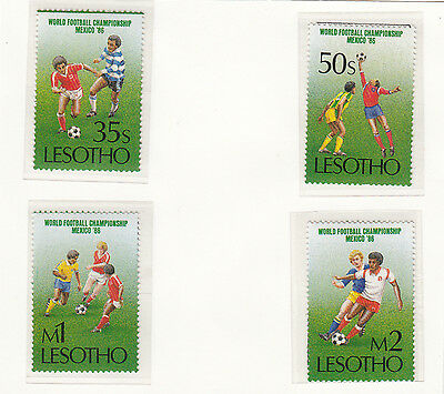 (32994) Lesotho Football World Cup 1986 MNH U/M Mint