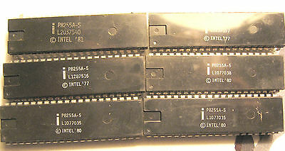 NOS Intel P8255A-5 Peripheral Interface IC  Lot of 6 P8255A