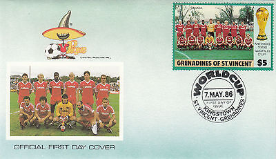 (33081) St Vincent Grenadines FDC - Football World Cup 1986- Canada