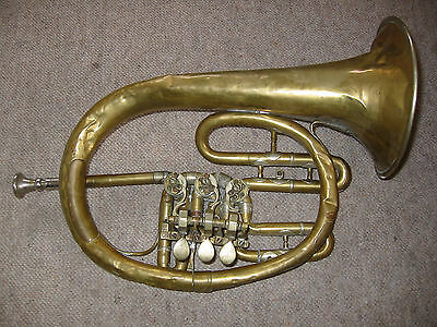 "Rare, very old Kuhlohorn by ""Glier"" flugelhorn  kuhlo horn bad condition"