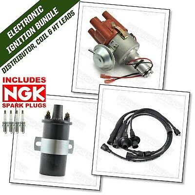 VW T2 T25 Type 4 only 1.7 1.8 2.0 Electronic Distributor, HT Leads, Coil & Plugs