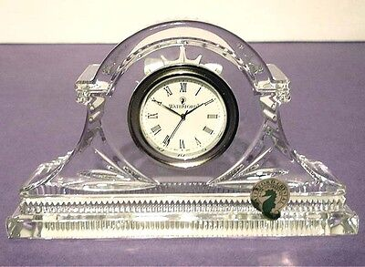 Waterford Devenish Small Crystal Clock Made in Ireland New in Box
