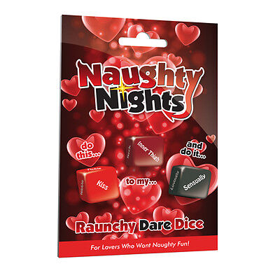 Naughty Nights Raunchy Dare Love Dice Adult Gambling Couples Sex Party Game Fun