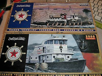 Ertl - Texaco Fire Chief & Havoline Tugboat Banks 2000/2001 1st & 2nd in Series