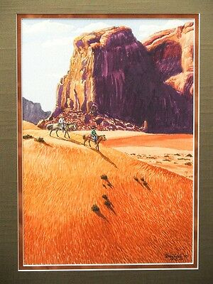 Irving Toddy Original Oil On Canvas Board  Painting / Navajo