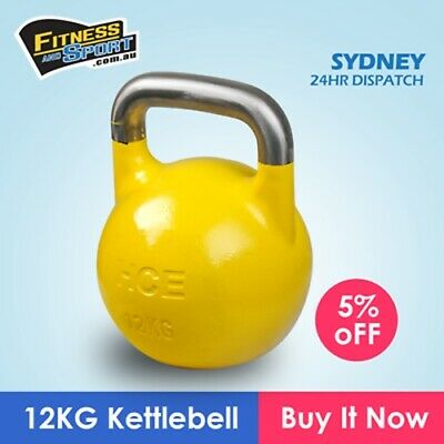 NEW Competition Kettlebell 12KG Fitness Gym Strength Training Exercise Equipment