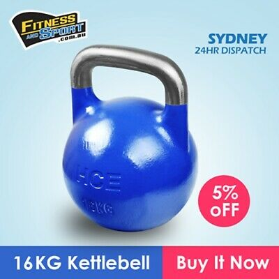 NEW Competition Kettlebell 16KG Fitness Gym Strength Training Exercise Equipment