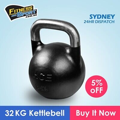 32kg Competition Kettle Bell Training Home Gym Weight Strength Fitness Exercise
