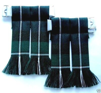 Kilt Hose Sock Flashes Forbes Modern Tartan Worsted Wool Fringed Scottish Kilts