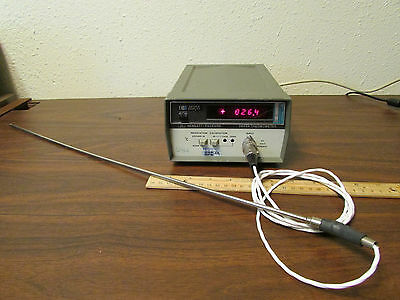 HP 2802A Thermometer With 34740A Display & Probe