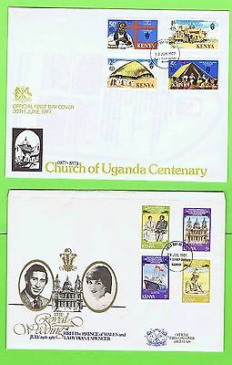 Kenya 1976/81 Collection of five Official First Day Covers