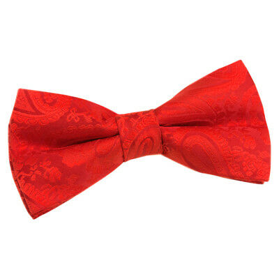 New Dqt Paisley Red Mens Pre-Tied Wedding Bow Tie