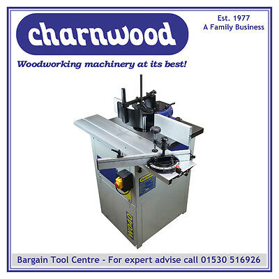 """NEW CHARNWOOD W040 Spindle Moulder with Sliding Beam +FREE 1/2""""ROUTING COLLET"""