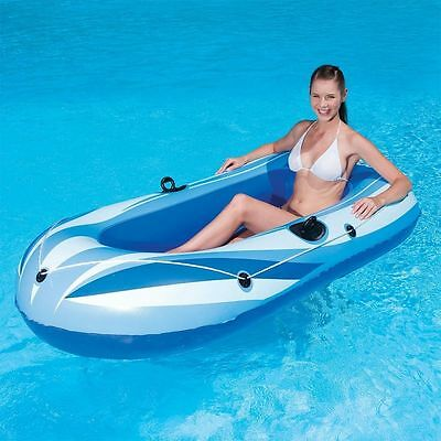 New Inflatable Rubber Raft Boat Swimming Beach Dinghy Fun 1 Person Boats Rx3000