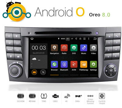 Autoradio Android Mercedes E Klasse W211 Navigation GPS DAB DVD MP3 USB SD DVB-T