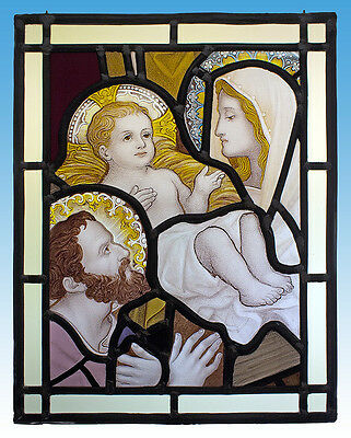 Holy Family stained glass, classic stained glass, Jesus, St Mary, St Joseph