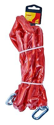 """Heavy Duty 72"""" 6FT x 8mm PVC Security Chain Sleeve Gate Motorcycle Bike Shed New"""
