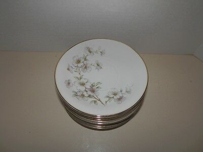 "Lot of 7 Tirschenreuth China Dogwood 6 1/4"" Plates"