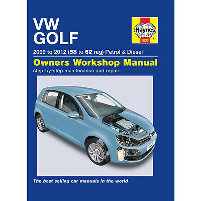 New Haynes Manual VW Golf Petrol & Diesel 2009 - 2012 Car Workshop Repair Book