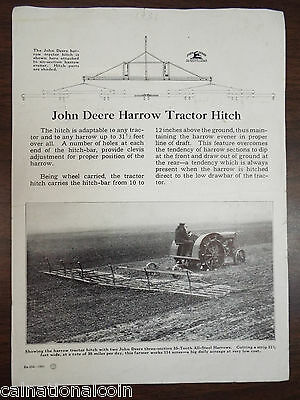 John Deere Harrow Tractor Hitch Advertising Page 1931
