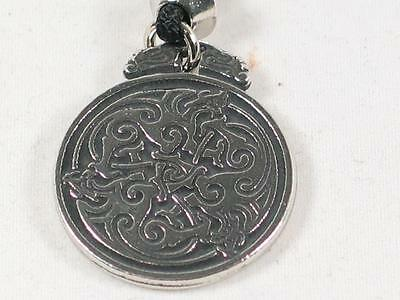 Triple Celtic Dragon Pewter Pendant, spiritual healing and wholeness
