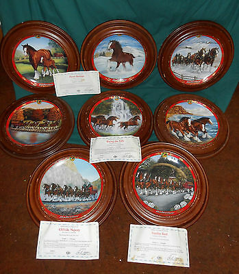 Pride of Budweiser  Danbury Mint Collectors Clydesdale Plate Set of 8 LE A3811
