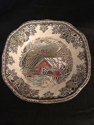 """Johnson Bros Friendly Village  One 6-1/8"""" Square Bowl Made in England"""