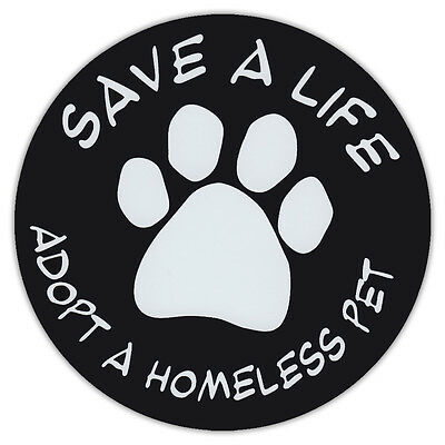"4.75"" Round Pet Magnets: SAVE A LIFE 