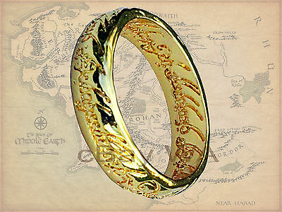 Lord of Rings Hobbit 18 Kt Gold GP Pendant LOTR Mother's Day Frodo Golam Ring