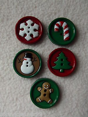 Dress It Up Buttons ~ Sew Fun Christmas ~ Snowman ~ Tree ~ Cane ~ Snowflake +