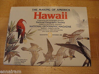 National Geographic Society Map 1983 Hawaii  Making of America series