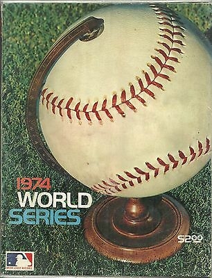 1974 World Series Program Los Angeles Dodgers vs Oakland A's