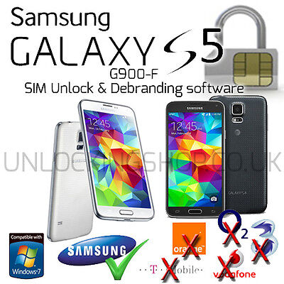 Samsung G900F Galaxy S5 SIM Unlock and Debranding Software