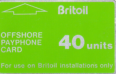 Britoil Company Offshore Oil Rig Phonecard - used