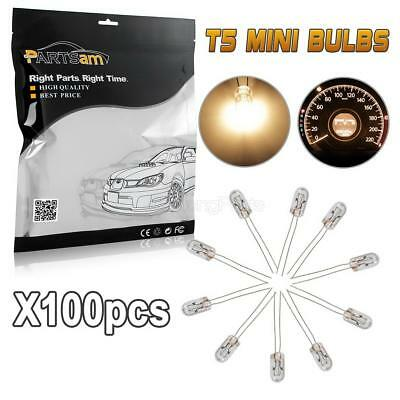 100) 4.7mm 12v-14v For Chevy Cluster Speedometer Climate Control Clear Lamp Bulb