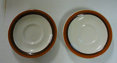 2 Sterling China Restaurant Ware Saucers